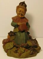 RETIRED VINTAGE 1985 TOM CLARK SIGNED GNOME LADY CANDY CHOCOLATE STATUE FIGURE