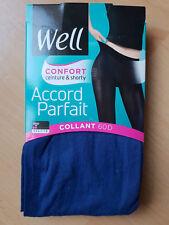 COLLANT WELL ACCORD PARFAIT OPAQUE 60 DEN TAILLE 2 COULEUR BLEU COBALT