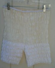 "Vintage Women'S Ivory & White Ruffled Bloomers Size 28 ""To 32"" Waist 17"" L"