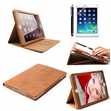 Flip Real 100% Genuine Leather Wallet Case Cover For Apple iPad Air 2 / 6