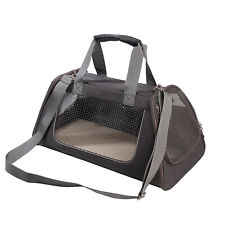 Large Gray Soft Sided Cat Dog Pet Carrier Travel Handbag Tote Shoulder Bag 39