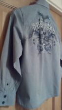 Next age 10 boys blue long sleeved cotton shirt smart good condition