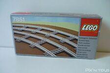 LEGO SYSTEM 7851  Curved Rails Gray 4.5v [ Neuf ]