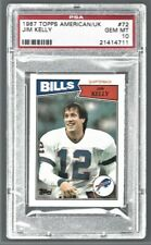 1987 Topps American/UK Jim Kelly Bills #72 Rookie PSA 10 #21414711   (HOF 2002)