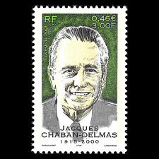 France 2001 - Death of Jacgues Chaban-Delmas Famous People - Sc 2842 MNH