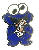"Grateful Dead Pin Cookie Monster ""Steal Your Cookie"" 🍪  Lapel Pin 1"" 1/2 inch"