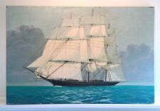 Large Vintage Schooner Sailing Ship Oil Painting. Signed A. COPPELLE Masterful!