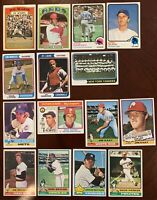 1972,73,74,76,77,78,79,80 Topps Baseball Lot Of 67 Different Semi-Star, Gd-Ex