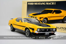 AutoArt 1:18 1971 ford mustang Mach 1 Fastback yellow