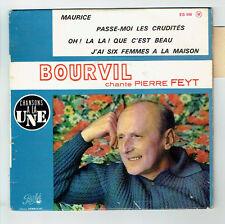 """BOURVIL Vinyle 45T 7"""" EP Chante Pierre FEYT PATHE EG 606 Languette F Rèduit RARE"""
