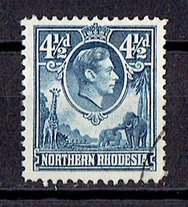 Northern Rhodesia 1938 GVI 4 1/2d SG# 37 - VF Used