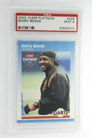 2002 Fleer Platinum Barry Bonds #25 PSA 10 Gem Mint Pop 2