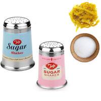 Sugar Shaker Sprinkler Retro Dispenser Stainless Steel Sieve Lid Tea Coco Powder