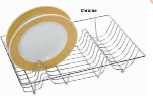 Kitchen, Craft, Stainless Steel, Metal Wire, Sink Top, Dish Drainer Chrome Color