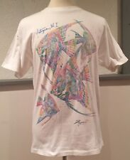 vtg Vintage Antigua WI T Shirt Dolphin Shirt Company Multi Color Fish USA Large
