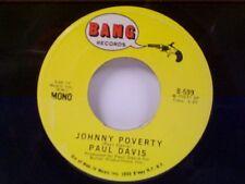 "PAUL DAVIS ""JOHNNY POVERTY / BOOGIE WOOGIE MAN"" 45"