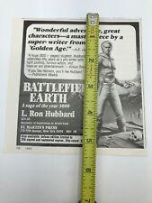 New listing Rare 1982 Battlefield Earth Magazine Print Ad L Ron Hubbard