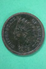 1875 Indian Head Cent Penny Bronze Exact Coin Pictured Flat Rate Shipping OCE 25