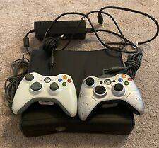 Microsoft Xbox 360 S Model 1439/ With Cables/2 Controllers/ Working