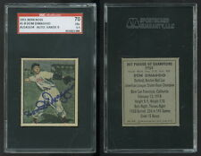 (181) 1951 Berk Ross Dom DiMaggio Auto Signed SGC Autographed Boston Red Sox