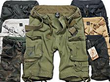 Brandit Savage Herren Bermuda Cargo Shorts knielang Kurze Hose Short mit Gürtel