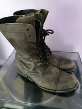 All Saints Mens Boots Biker/Military Style Side Zip Lace Up Leather Boot SIZE 44