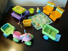 Fisher Price Loving Family Dollhouse Beach Chairs Picnic Table ATV Vehicle 12 Pc