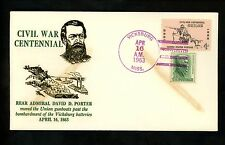 US Postal History Civil War Centennial 1963 David Porter Navy MS #1179+1209