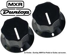 2x Genuine Dunlop MXR Knobs for Pedal or guitar - Black - with set screw - SALE!