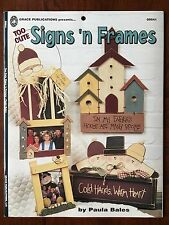 """TOO CUTE SIGNS 'N FRAMES"" PAULA BALES Decorative Painting, Fun Sign Designs"