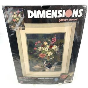 Dimensions Gallery Crewel Ginger Jar Bouquet Kit  #1532