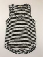 Madewell Women's Black Striped Sleeveless Tank Top Size 2XS