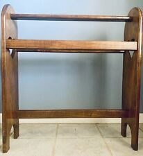 Vintage Quilt Rack Floor Stand Country Rustic Farmhouse Wood Heart Display Rack