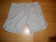 Free People ANTHROPOLOGIE Beige Tan Roll Cuff Linen Blend BOHO Summer Shorts 2