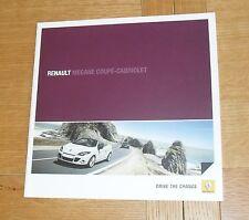 Renault Megane Coupe Cabriolet Brochure 2010 Dynamique GT - TCE 1.5 1.9 2.0 DCI