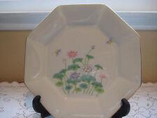 Otagiri Octagonal Lotus Garden Japan Porcelain Dinner Plate