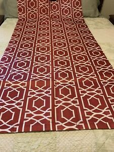 """Red Shower Curtain, Geometric design, Red and White shower curtain, 70"""" x 72"""""""