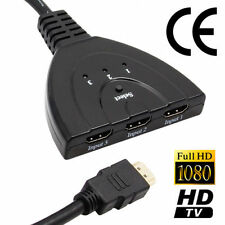 3 Port HDMI selector Switch splitter x box ps4 one cable switcher hub port kodi