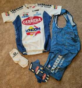 NALINI CARRERA BLUE JEANS cycling kit Excellent condition. Jersey/Bibs/Gloves/So