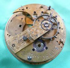 Fusee chain watch movment  LARGE stones  Mvment montre chaîne coq  gros rubis