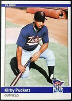 1984 Fleer Update # U-93 KIRBY PUCKETT Rookie Reprint Minnesota Twins Nice LOOK