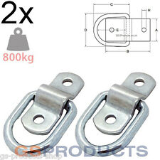 2x 800kgs Heavy Duty Tie Down Lashing Ring & Plate Anchor Trailer Points