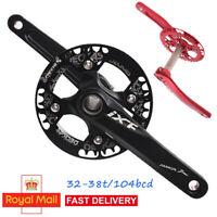 DECKAS 32-38t 104mm Narrow Wide Cycling MTB Bike Crank Chainset Chainring Guard
