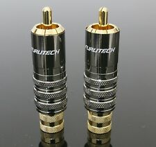 Genuine 2pcs FURUTECH FP-104 FP-104(G) RCA Male Plug Connector Gold Plated