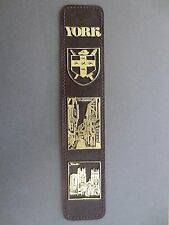 BOOKMARK Leather YORK Yorkshire The Shambles Minster Brown Embossed