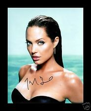 ANGELINA JOLIE AUTOGRAPHED SIGNED AND FRAMED PP PHOTO POSTER