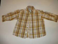 DKNY GENUNINE BABY BOY INFANT PLAID SHIRT LOT 2 SHIRTS 9 M 6-12M