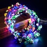 LED Festival Party Glowing Crown Flower Headband Fairy Light Up Wreath Hairband