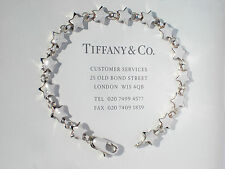 Tiffany & Co Star Link Continuous Star Sterling Silver 7.5 Inch Bracelet