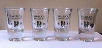 GREAT SET OF 4 SAMBUCA RAMAZZOTTI SHOT GLASSES - SHOOTER GLASS